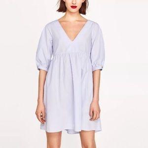 GUC - Zara - Poplin Babydoll Dress - L